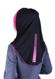 Raqtive Hijab B215 Grey Fuchsia
