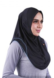 Raqtive Sports Hijab B208 Aqua Blue