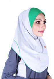 Raqtive Sport Hijab grey green b219