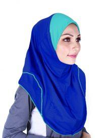 Raqtive Sport Hijab blue turqoise b211