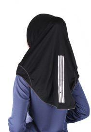 Raqtive Sport Hijab Black Dark Grey b203 back