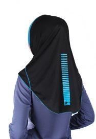 Raqtive Sport Hijab Black turquoise b217 B216