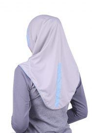 Raqtive Sports Hijab B223 Blue Grey