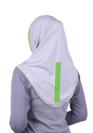 Raqtive Sports Hijab B224 grey lime