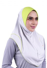 Raqtive Sports Hijab B224 grey lime